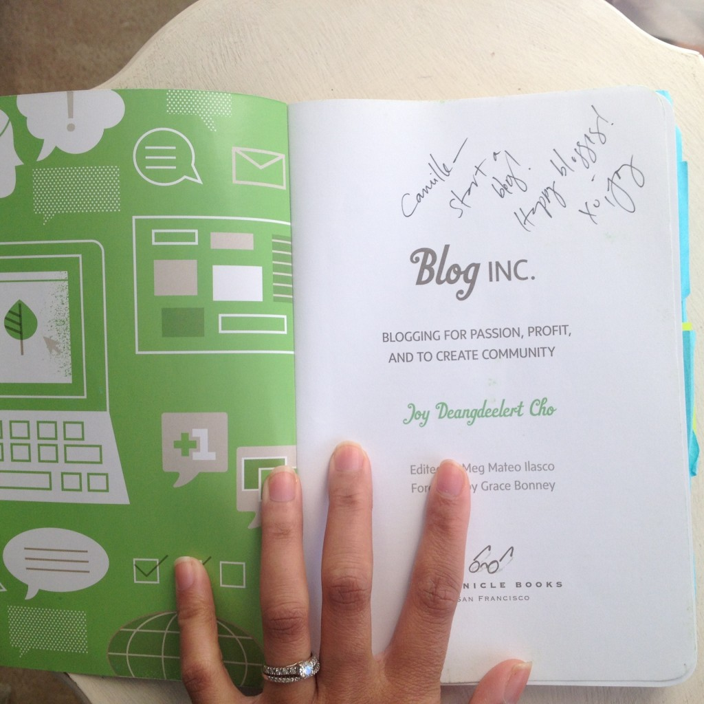 Signed copy of Blogs, Inc