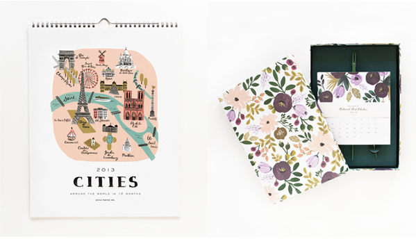 Wall & Desk Calendars from Rifle Paper Co. $26 & $48