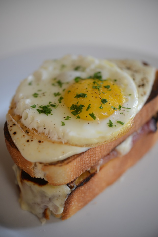 I love simple French food like this croque madame via Cupcakes & Cashmere