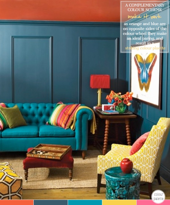 Decorating Ideas Color Inspiration: A Bright, Happy Living Room
