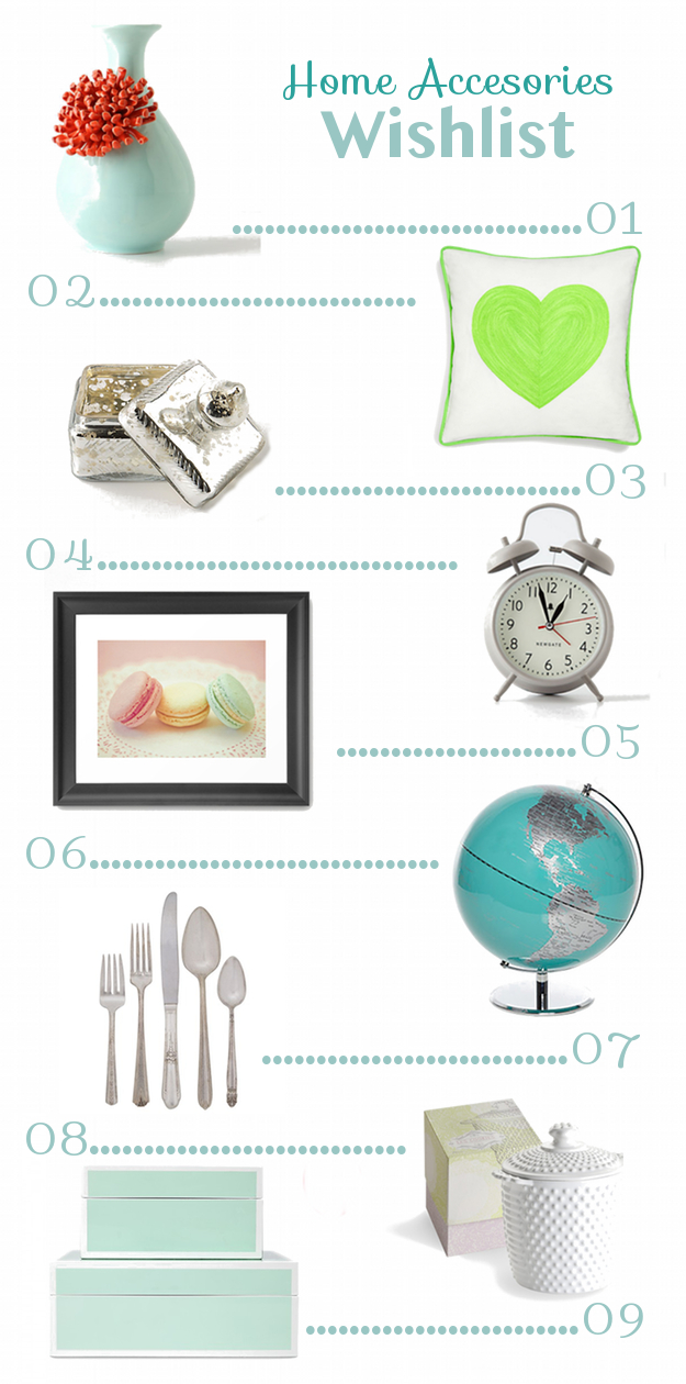 Home accessories wish list for Home wish list
