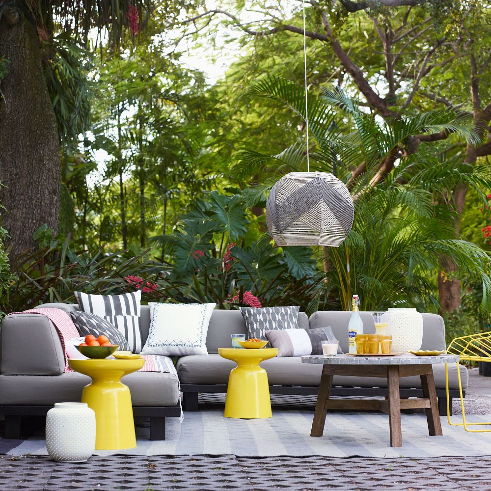 Bright Backyard Decor
